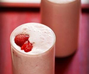 Fácil batido de fresa con helado