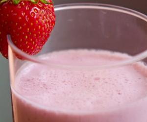 Batido de fresa sin azucar