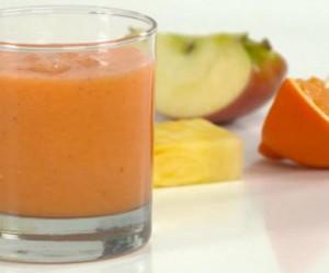 Batido de manzana y zanahoria