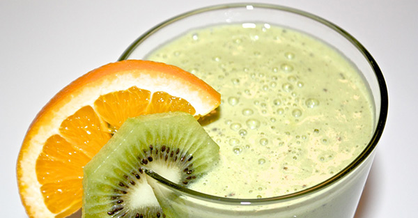 Batido de kiwi y naranja