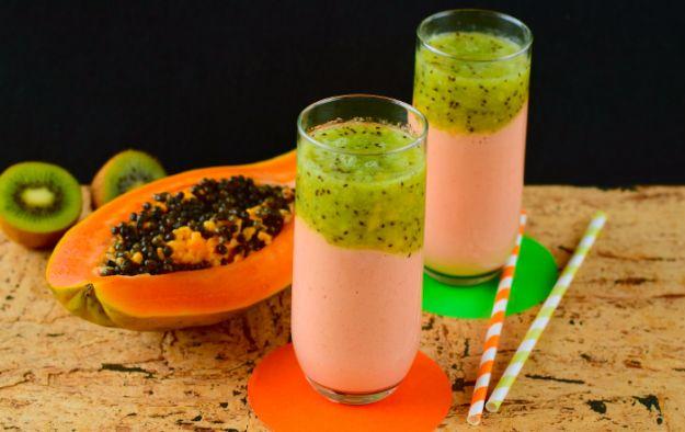 Foto de batidos de papaya y kiwi