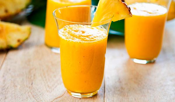 Batido de naranja y piña