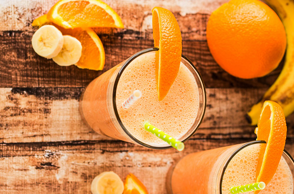 Hacer batido de naranja