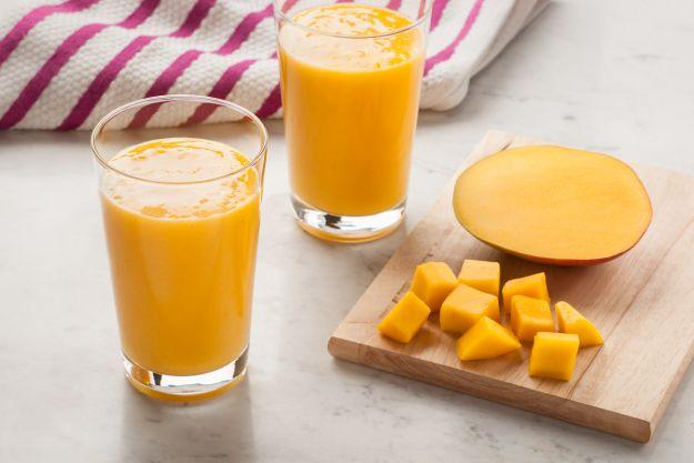 Batido de mango y plátano