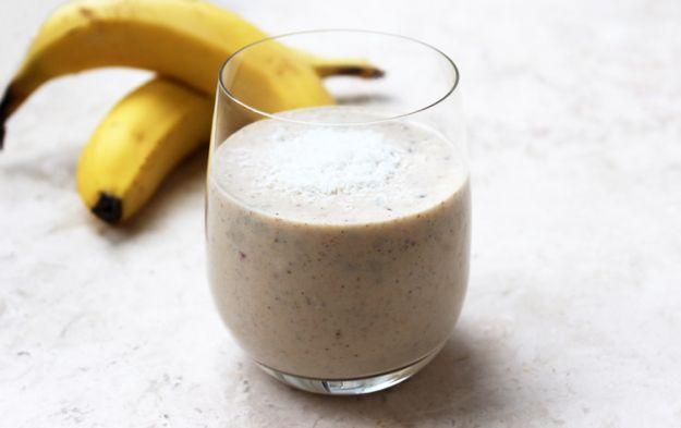 Batido de coco y plátano