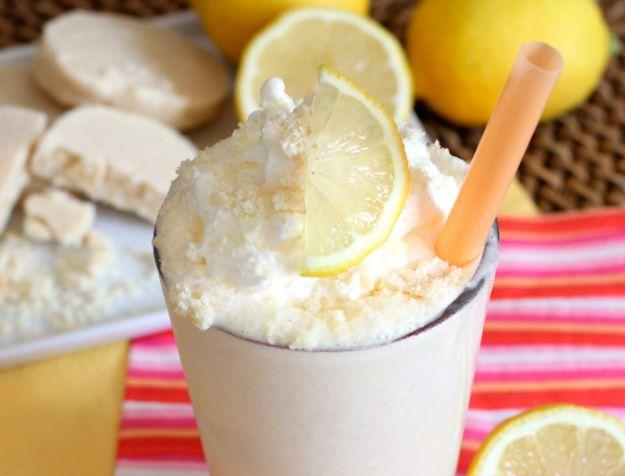 Ejemplo de batido de helado de limón