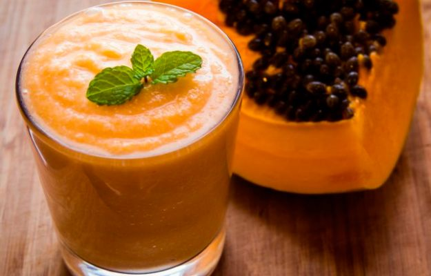 Batido de papaya en Thermomix