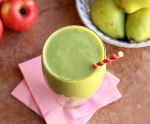 Batido de pera y manzana