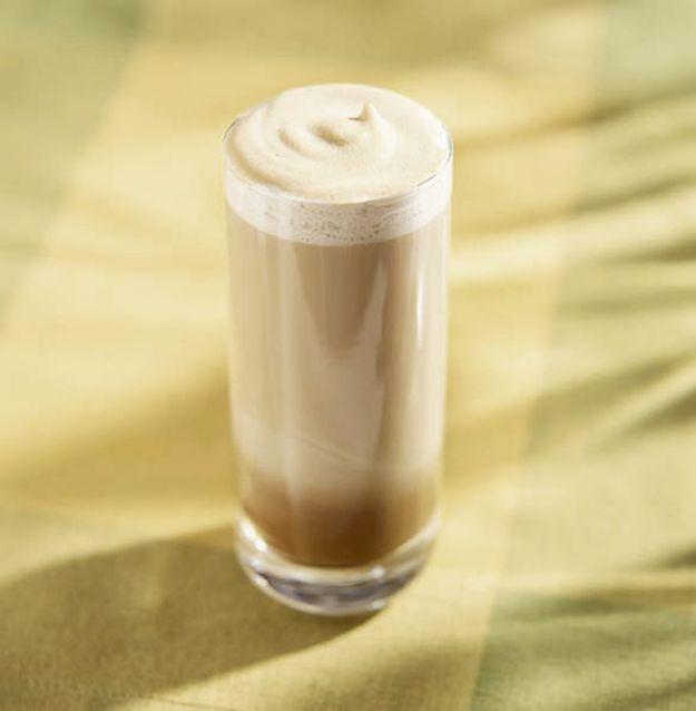 Batido de vainilla y café