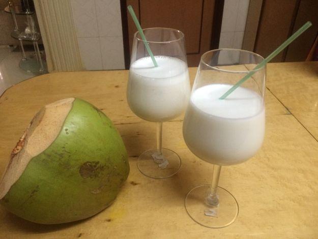 Batido de coco con leche vegetal