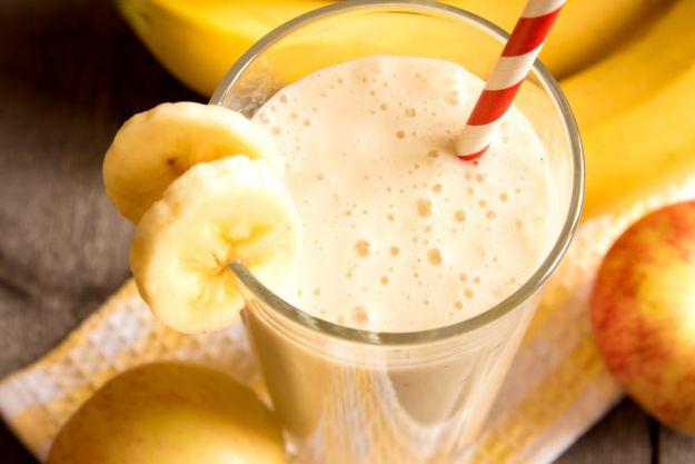 Batido de melocotón con plátano