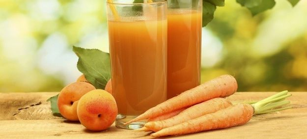 Batido de melocotón con zanahoria